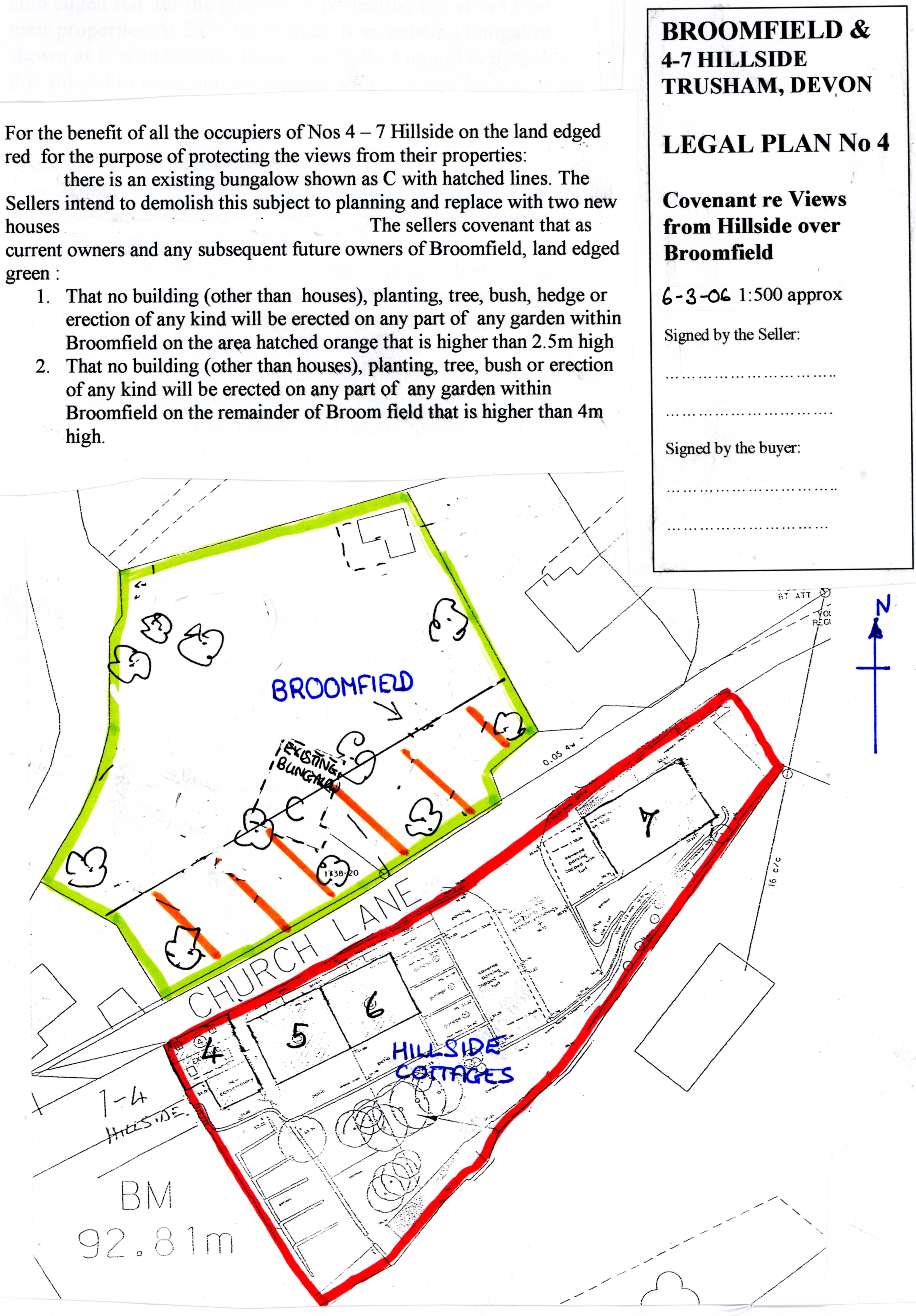 plan of hillside trusham